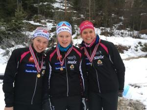 KM stafett 2017 damelaget